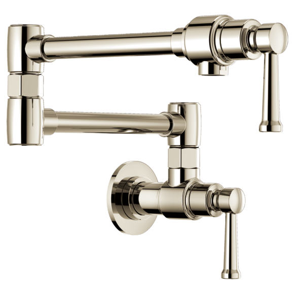 Brizo Artesso Wall Mount Pot Filler in Polished Nickel - SpeedySinks