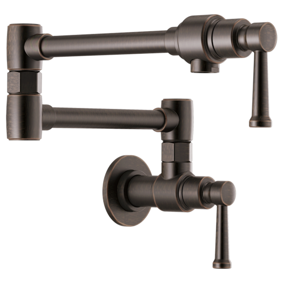 Brizo Artesso Wall Mount Pot Filler in Venetian Bronze - SpeedySinks