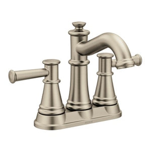 Moen Belfield Two-Handle Centerset High Arc Bathroom Faucet in Brushed Nickel