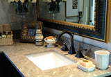 White Canyon with Virage Widespread Lavatory Faucet in Venetian Bronze