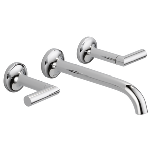 Brizo Odin™ Two Handle Wall-Mount Lavatory Faucet in Chrome - SpeedySinks