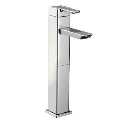 Moen 90 Degree One Handle High Arc Vessel Bathroom Faucet in Chrome - SpeedySinks