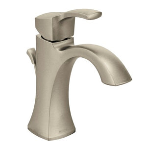 Moen Voss One Handle High Arc Bathroom Faucet in Brushed Nickel