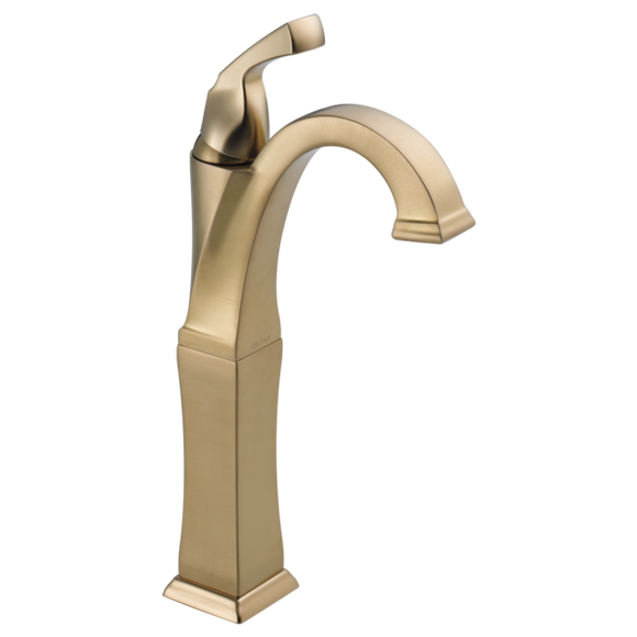 Delta Dryden Single Handle Vessel Lavatory Faucet in Champagne Bronze - SpeedySinks
