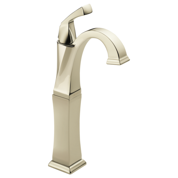 Delta Dryden Single Handle Vessel Lavatory Faucet in Polished Nickel