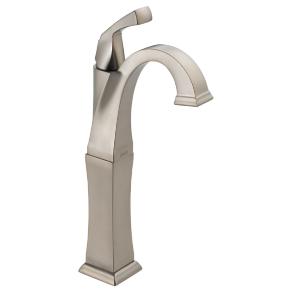 Delta Dryden Single Handle Vessel Lavatory Faucet in SpotShield Stainless