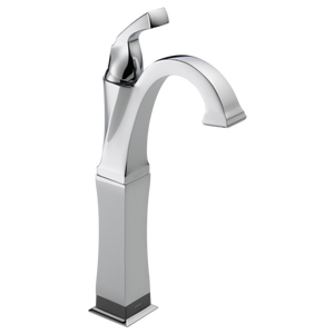 Delta Dryden Single Handle Vessel Lavatory Faucet with Touch2O.xt Technology in Chrome - Chariotwholesale