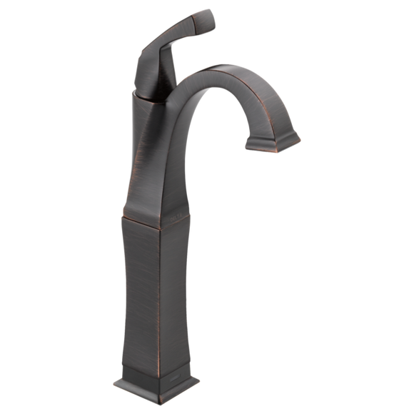 Delta Dryden Single Handle Vessel Lavatory Faucet with Touch2O.xt Technology in Venetian Bronze