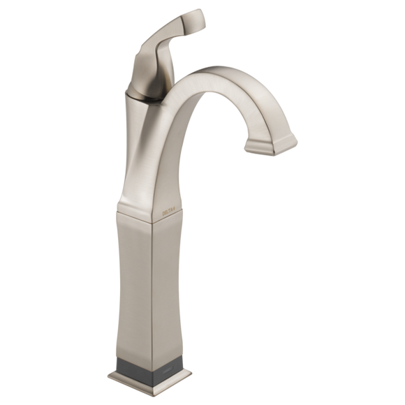 Delta Dryden Single Handle Vessel Lavatory Faucet with Touch2O.xt Technology in SpotShield Stainless - Chariotwholesale