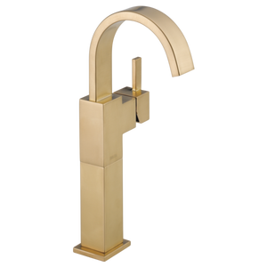 Delta Vero Single Handle Vessel Lavatory Faucet in Champagne Bronze - SpeedySinks