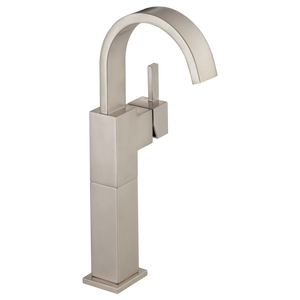 Delta Vero Single Handle Vessel Lavatory Faucet in Stainless - SpeedySinks