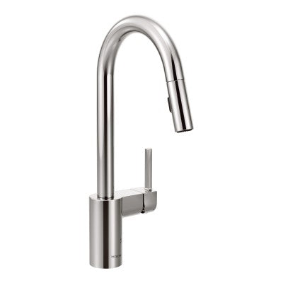 Moen Align One Handle High Arc Pulldown Kitchen Faucet in Chrome - SpeedySinks