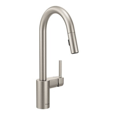 Moen Align One Handle High Arc Pulldown Kitchen Faucet in Spot Resist Stainless
