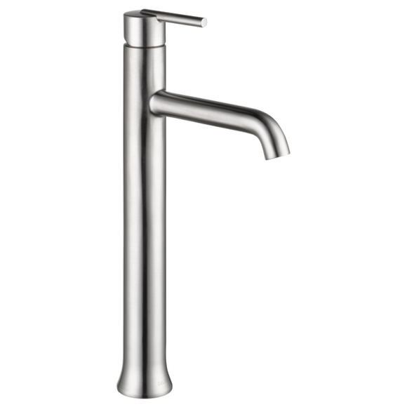 Delta Trinsic Single Handle Vessel Lavatory Faucet in Stainless
