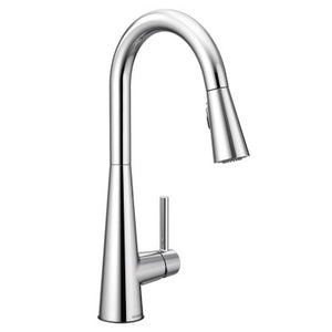 Moen Sleek One Handle High Arc Pulldown Kitchen Faucet - SpeedySinks