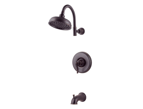 Pfister Ashfield 1-Handle Tub & Shower, Trim Only in Tuscan Bronze - SpeedySinks