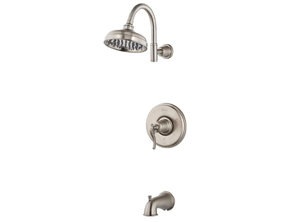 Pfister Ashfield 1-Handle Tub & Shower, Trim Only in Brushed Nickel - SpeedySinks