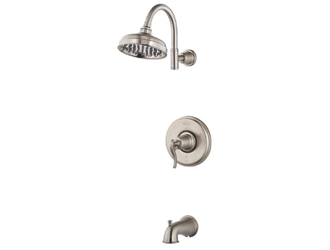 Pfister Ashfield 1-Handle Tub & Shower, Trim Only in Brushed Nickel