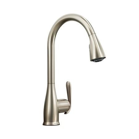 Moen Haysfield One-Handle High Arc Kitchen Faucet in Spot Resist Stainless - Chariotwholesale