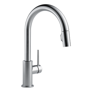 Delta 9159-AR-DST Trinsic Single Handle Pull-Down Kitchen Faucet in Arctic Stainless - Chariotwholesale