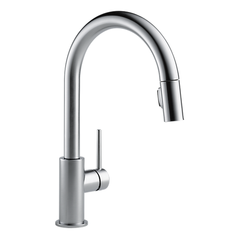 Delta 9159-AR-DST Trinsic Single Handle Pull-Down Kitchen Faucet in Arctic Stainless - SpeedySinks