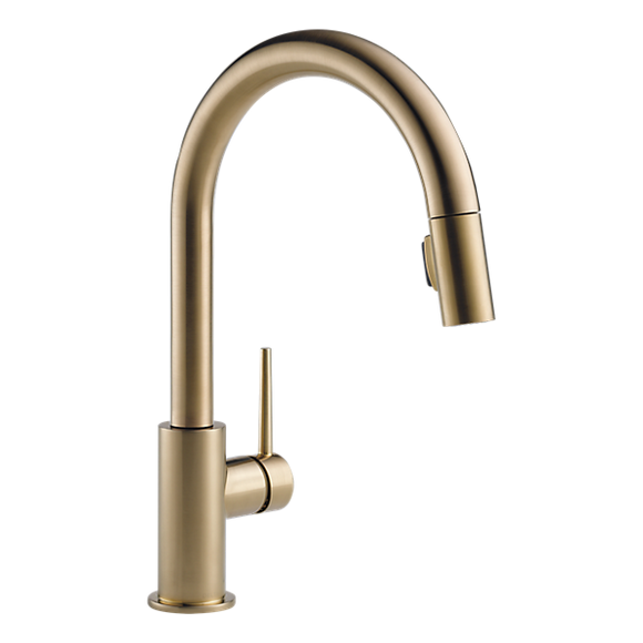 Delta 9159-CZ-DST Trinsic Single Handle Pull-Down Kitchen Faucet in Champagne Bronze - SpeedySinks