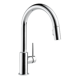 Delta 9159-DST Trinsic Single Handle Pull-Down Kitchen Faucet in Chrome - Chariotwholesale