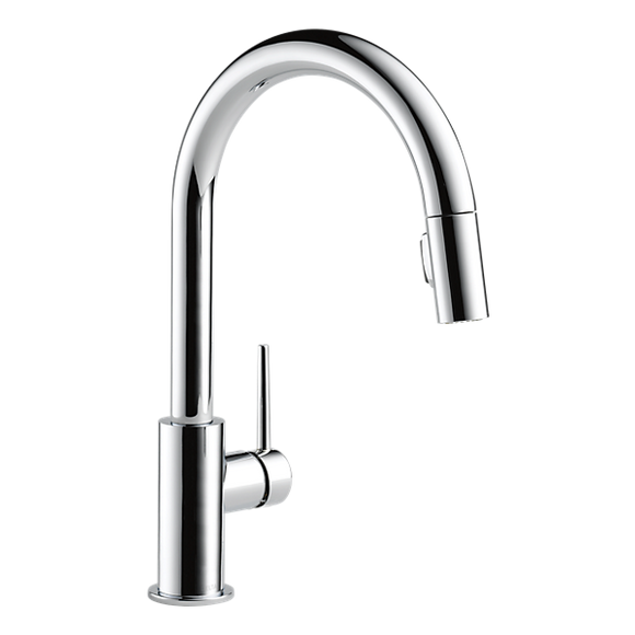 Delta 9159-DST Trinsic Single Handle Pull-Down Kitchen Faucet in Chrome - SpeedySinks