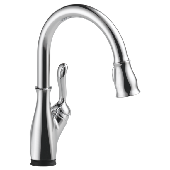 Delta Leland Single Handle Pull-Down Kitchen Faucet with Touch-2-0 & ShieldSpray Technologies in Chrome - Chariotwholesale