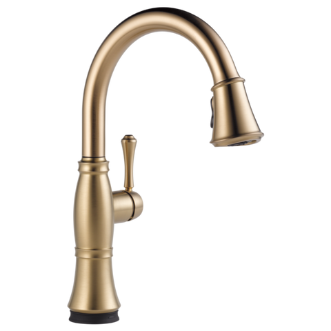 Delta Cassidy Single Handle Pull-Down Kitchen Faucet with Touch-2-0 Technology in Champagne Bronze
