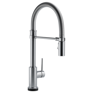 Delta Trinsic Pro Single Handle Pull-Down Kitchen Faucet with Touch-2-0 Technology in Arctic Stainless - SpeedySinks