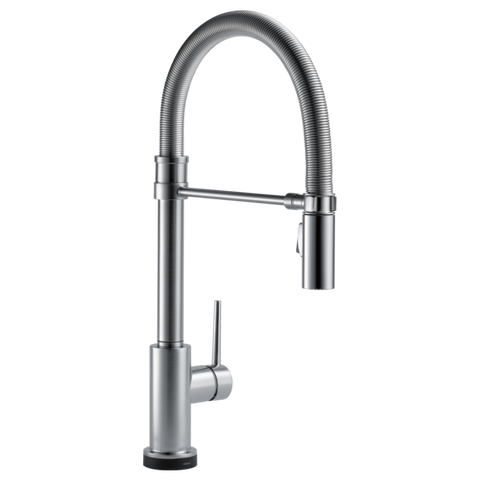 Delta Trinsic Pro Single Handle Pull-Down Kitchen Faucet with Touch-2-0 Technology in Arctic Stainless