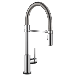 Delta Trinsic Pro Single Handle Pull-Down Kitchen Faucet with Touch-2-0 Technology in Chrome - SpeedySinks