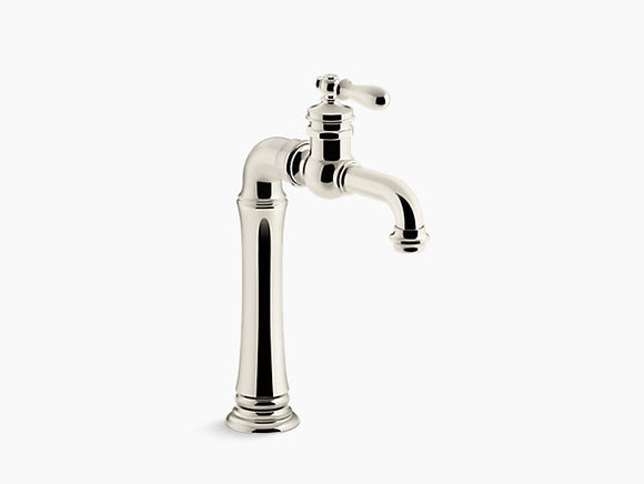 Kohler Artifacts Gentlemen's Bar Sink Faucet in Vibrant Polished Nickel