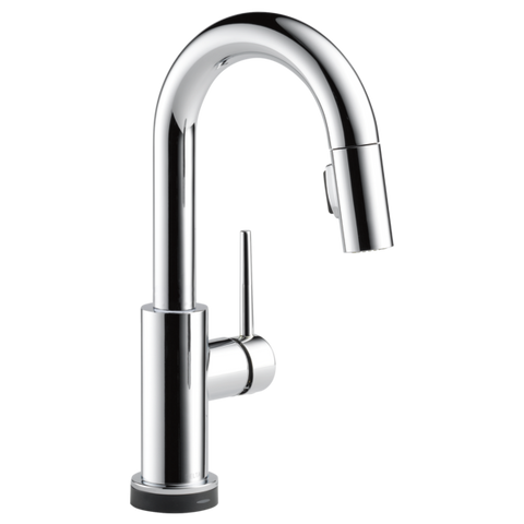 Delta Trinsic Single Handle Pull-Down Bar/Prep Faucet with Touch2O Technology in Chrome - Chariotwholesale