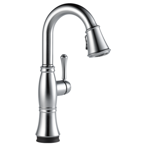 Delta Cassidy Single Handle Pull-Down Bar/Prep Faucet with Touch2O Technology in Arctic Stainless