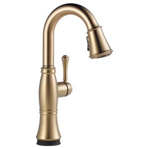 Delta Cassidy Single Handle Pull-Down Bar/Prep Faucet with Touch2O Technology in Champagne Bronze