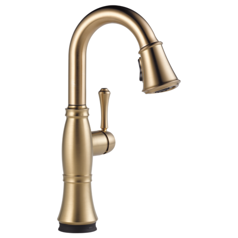 Delta Cassidy Single Handle Pull-Down Bar/Prep Faucet with Touch2O Technology in Champagne Bronze - Chariotwholesale