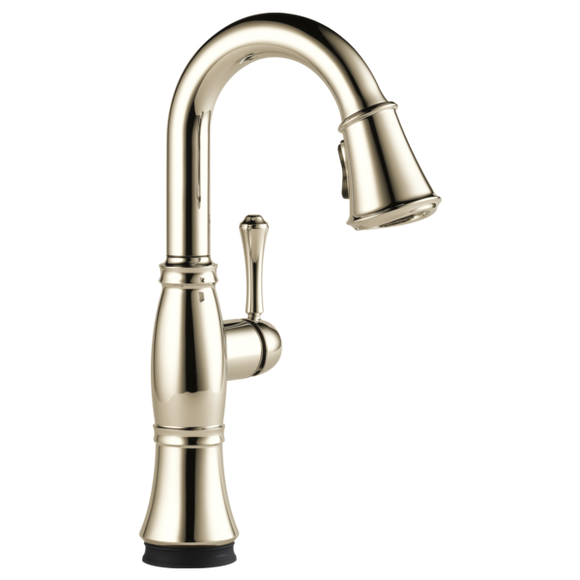Delta Cassidy Single Handle Pull-Down Bar/Prep Faucet with Touch2O Technology in Polished Nickel