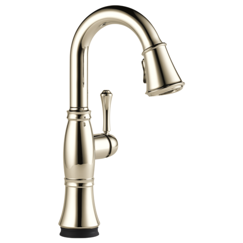 Delta Cassidy Single Handle Pull-Down Bar/Prep Faucet with Touch2O Technology in Polished Nickel - Chariotwholesale