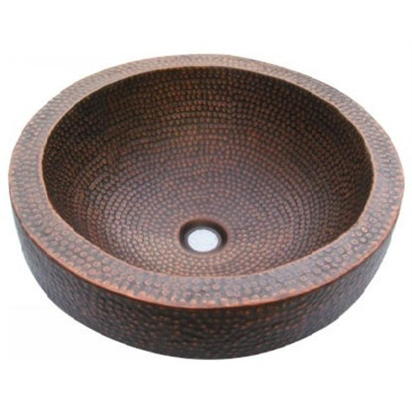Oriental Skirted Oval Vessel Copper Bathroom Sink - SpeedySinks