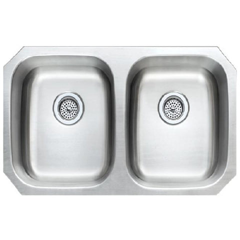 Presidential Adams Premium Double Bowl 16 Gauge Undermount Stainless Steel Sink - SpeedySinks