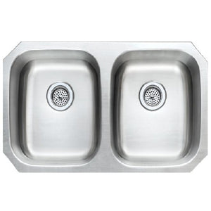 Adams Presidential ADA Double Bowl 18 Gauge Undermount Stainless Steel Sink - SpeedySinks
