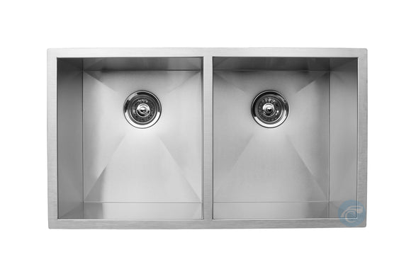 Master Chef Tours Stainless Steel Double Bowl Culinary Sink