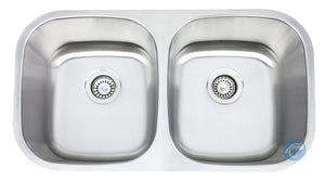 Liberty Boston Double Bowl 18 Gauge Undermount Stainless Steel Sink - Chariotwholesale