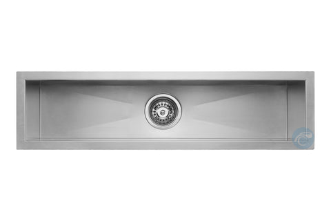 "Master Chef Caen 32"" Stainless Steel Trough Bar Sink"
