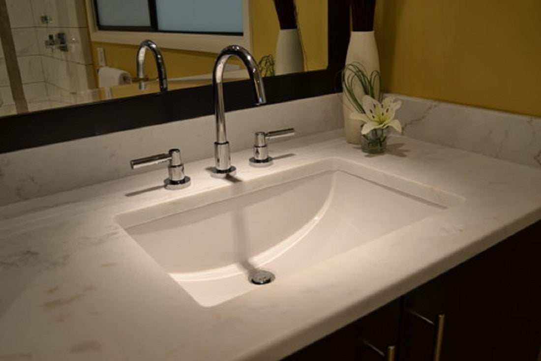 ... Oasis Canyon Small Bathroom Porcelain Sink ...