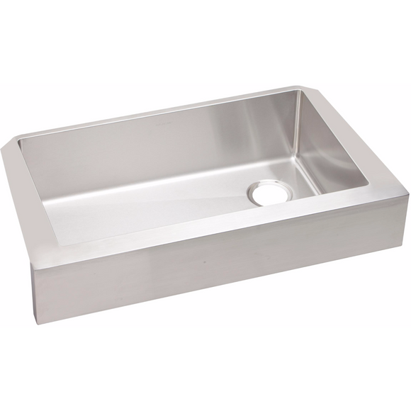Elkay ECTRUF30179R Crosstown Stainless Steel Single Bowl Farmhouse Kitchen Sink - SpeedySinks