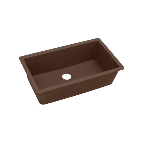 "Elkay ELGRU13322MC0 Quartz Classic 33"" x 18-7/16"" x 9-7/16"", Single Bowl Undermount Sink, Mocha"