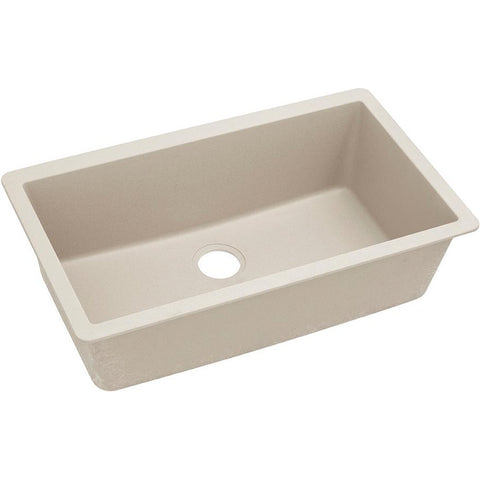 "Elkay ELGRU13322BQ0 Quartz Classic 33"" x 18-7/16"" x 9-7/16"", Single Bowl Undermount Sink, Bisque"